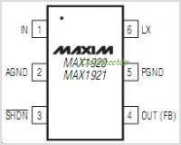 MAX1921 pinout,Pin out