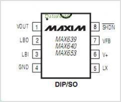 MAX653 pinout,Pin out