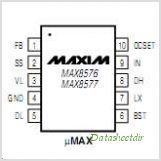 MAX8576 pinout,Pin out