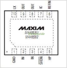MAX8581ETBT pinout,Pin out