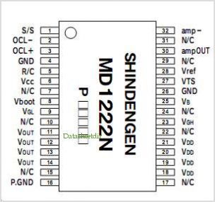 MD1222N pinout,Pin out