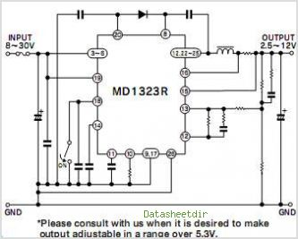 MD1323R circuits