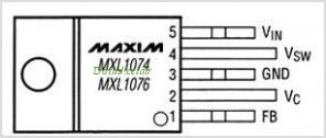 MXL1076 pinout,Pin out