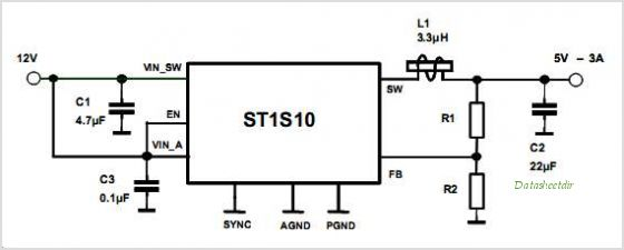 ST1S10 circuits