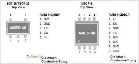 AME5140 pinout,Pin out