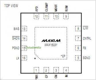 MAX15031 pinout,Pin out