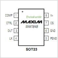 MAX1848 pinout,Pin out