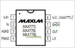 MAX778L pinout,Pin out