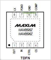 MAX8595Z pinout,Pin out