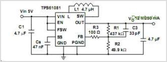 this is one application circuit of tps61081 if you need more circuits