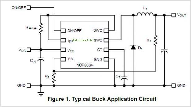 NCP3064 circuits