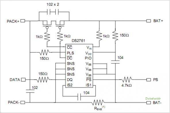DS2761 circuits