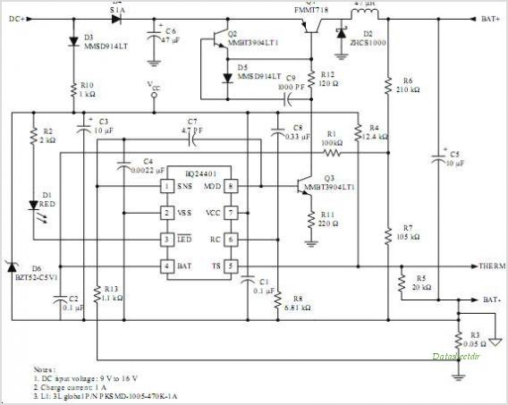 one application circuit of