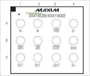 MAX14529 pinout,Pin out