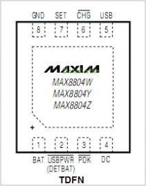 MAX8804Y pinout,Pin out