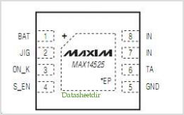 MAX14525 pinout,Pin out