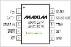 MAX16914 pinout,Pin out