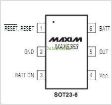 MAX6363HUT31T pinout,Pin out