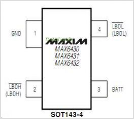 MAX6432MTUS-T pinout,Pin out