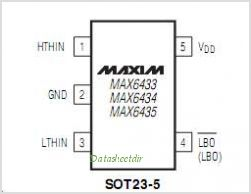 MAX6435UK-T pinout,Pin out