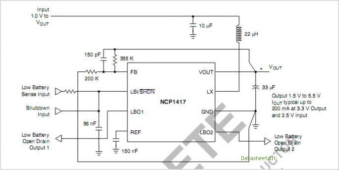 NCP1417 circuits