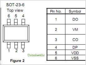 S-8261AAHMD-G2HT2G pinout,Pin out