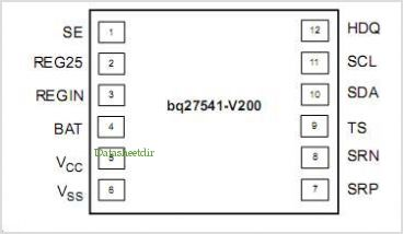 BQ27541DRZR-V200 pinout,Pin out