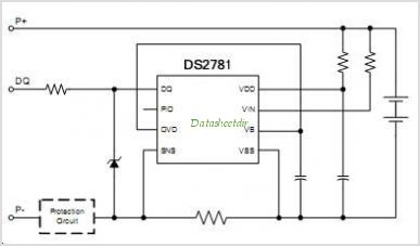 DS2781G-T-RW circuits