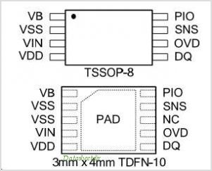 DS2781 pinout,Pin out
