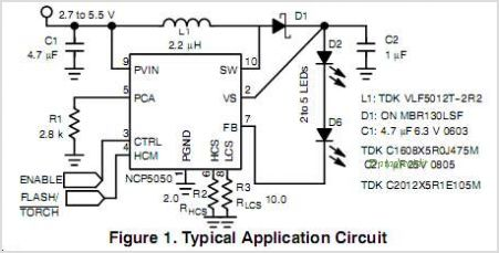 NCP5050 circuits