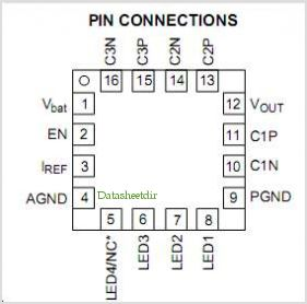 NCP5604A pinout,Pin out