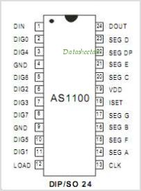 AS1100 pinout,Pin out