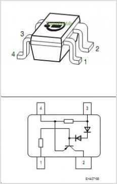 BCR402R pinout,Pin out