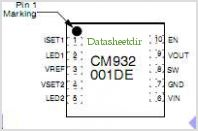 CM9311 pinout,Pin out
