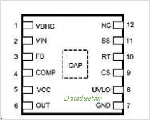 LM3430 pinout,Pin out