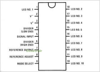 LM3916 pinout,Pin out