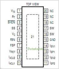 LT3477EFE-TRPBF pinout,Pin out