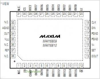 MAX16810 pinout,Pin out