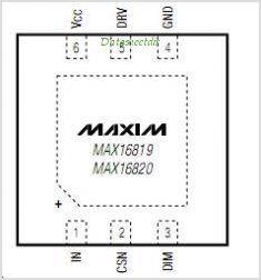 MAX16819 pinout,Pin out