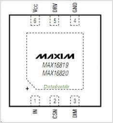 MAX16820 pinout,Pin out