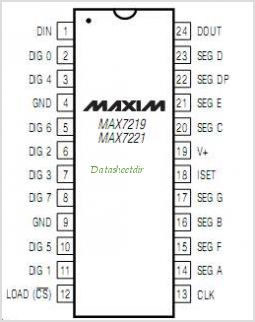 MAX7219 pinout,Pin out