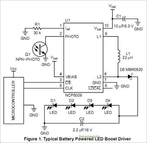 NCP5009 circuits