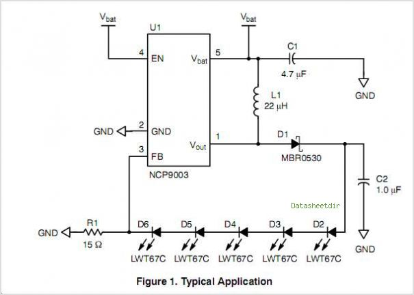 NCP9003 circuits