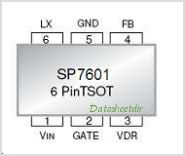 SP7601 pinout,Pin out