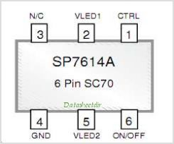 SP7612C pinout,Pin out