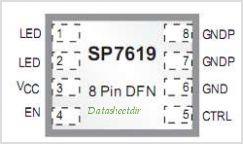SP7619 pinout,Pin out