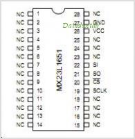 MX23L1651 pinout,Pin out