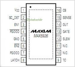 MAX5926 pinout,Pin out