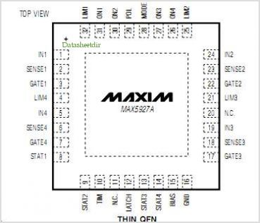 MAX5927A pinout,Pin out