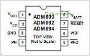 ADM690 pinout,Pin out